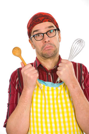 Cook is helpless Stock Photo