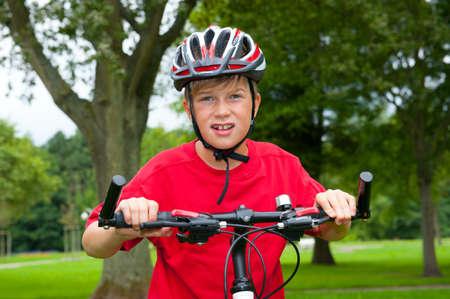 boy on bicycle Stock Photo - 23697790