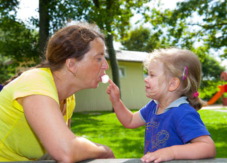 bubblegum: girl is playing with mothers bubblegum