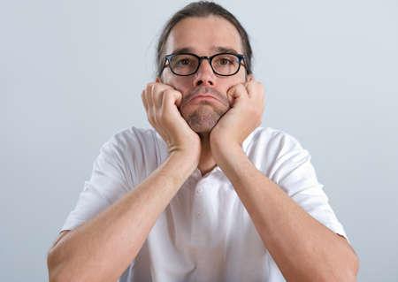 bad temper: man in a bad mood