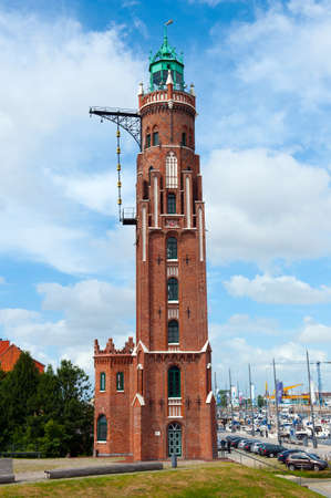 clinker: old light house in Bremerhaven Germany  Stock Photo