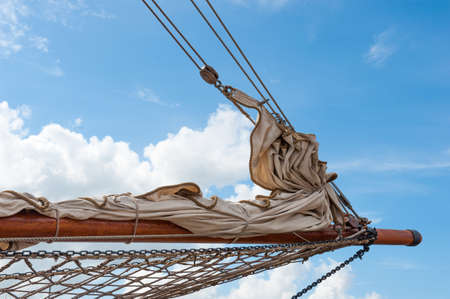 detail of a sailing ship  photo