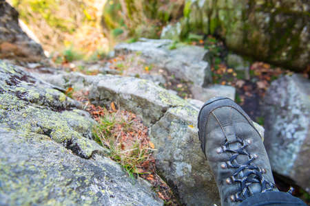 wanderers: wanderers shoe on a rock