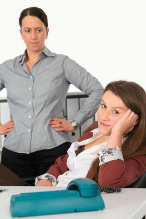 clerical: uninterested young assistant