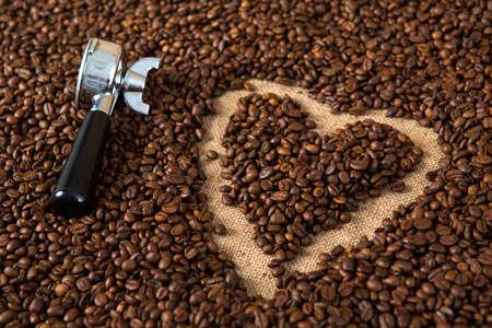 caffee: coffee- heart