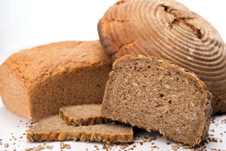 German bread on white ground Stock Photo