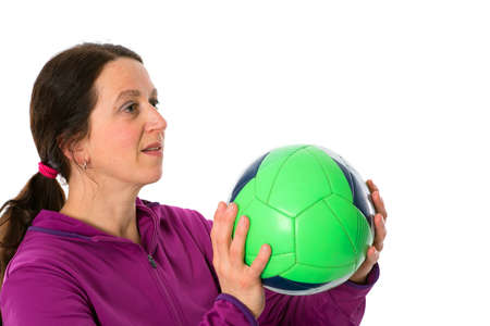 woman is doing sports photo