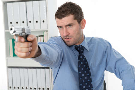smashup: rampage on workplace Stock Photo