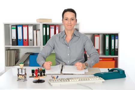 resolute: resolute business woman Stock Photo