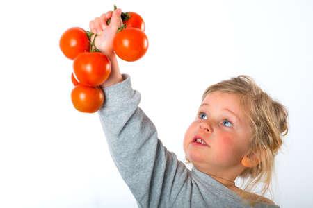 bonny: child keeping up tomato