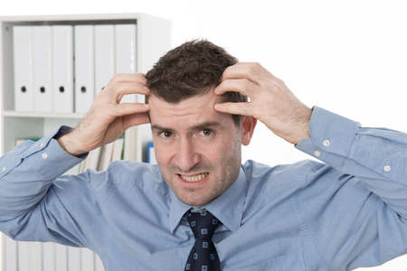 over worked: businessman is over-worked