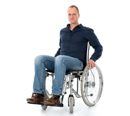 man on wheelchair 版權商用圖片