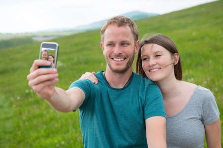twosome: twosome take a selfie Stock Photo