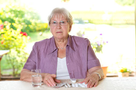 female senior with drugs