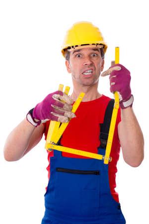 yardstick: worker with yardstick is over-worked