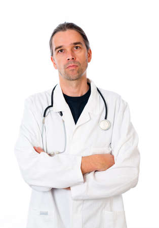 cross armed: young doctor with crossed arms