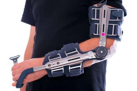 man has broken arm photo
