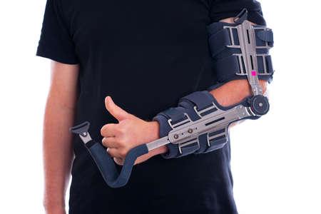 Gebrochenen Arm mit Daumen nach oben Standard-Bild - 32554367