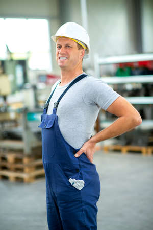 worker has back pain Stock Photo
