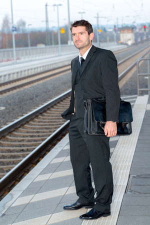 man on business trip photo