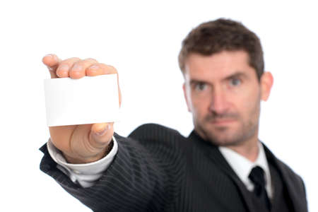 businessman showing his visiting card photo
