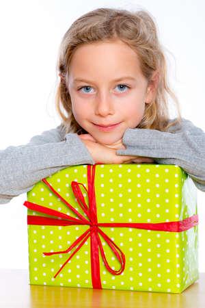 nice girl: nice girl with present