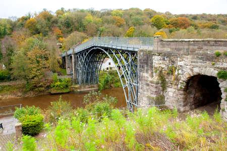 severn: Iron Bridge- middle England over river Severn Stock Photo