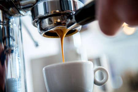 porta filter espressomachine voor heldere achtergrond Stockfoto