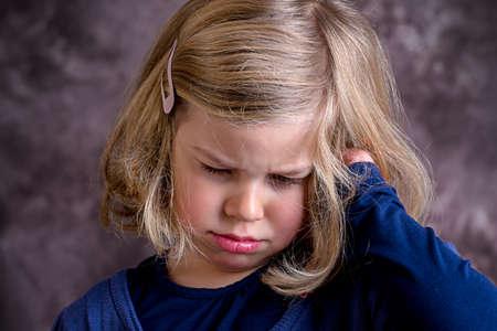 bad mood: littlegirl is in bad mood and crying