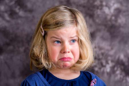 bad temper: littlegirl is in bad mood and crying