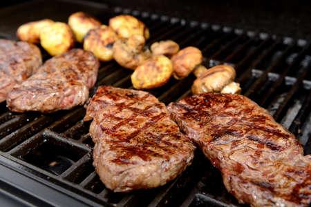rump steak: delicious grilled rump steak on barbecue