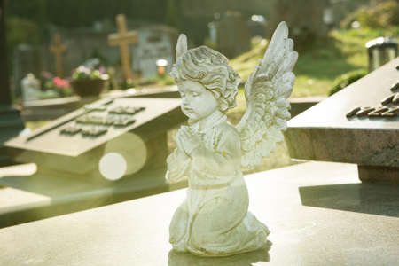 cemetery still-life - little angel on grave