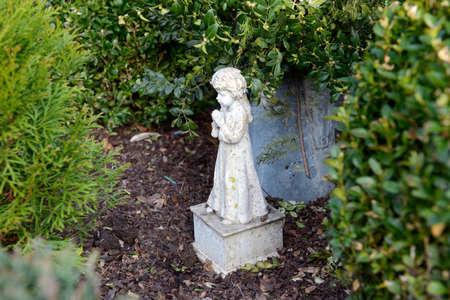 cemetery still-life - little angel on grave