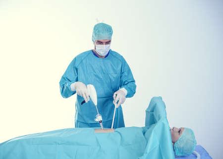 young doctor carry out a endoscopy surgery