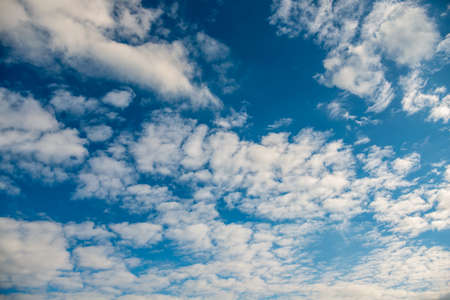 blue sky with much white clouds