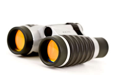 Binoculars wOrange Lenses Close-up