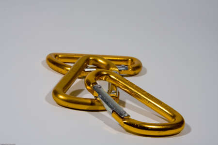 rapelling: Carabiners - three gold