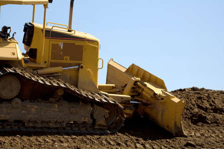 Close-up of a bulldozer Stock Photo