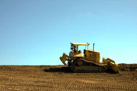 Bulldozer at the job site