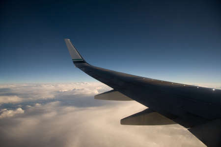 Airplane wing at 35,000 feet