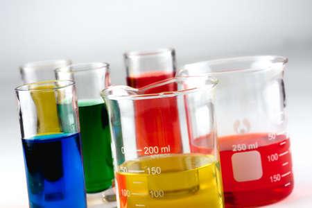 Multiple glass beakers