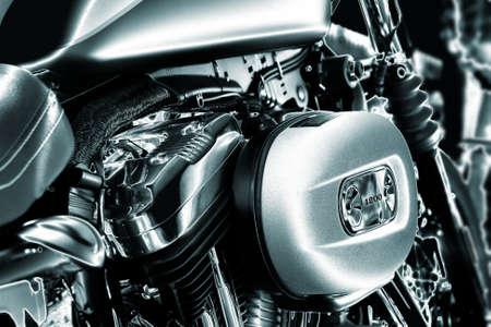 Close-up of a motorcycle engine  Banco de Imagens