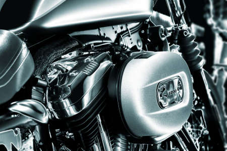 Close-up of a motorcycle engine  Stock Photo
