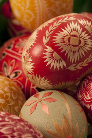 decorative eggs done by hand, stacked vertical version 2