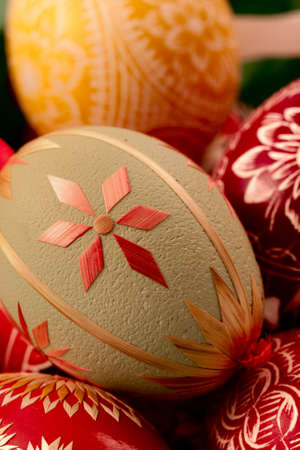 decorative eggs done by hand, stacked vertical version 3