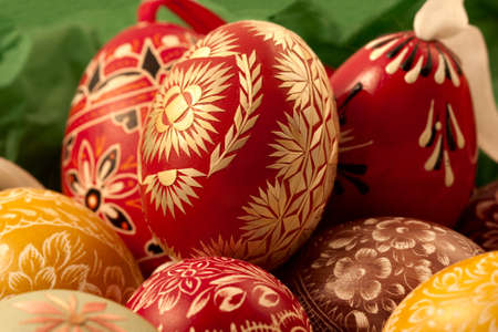 decorative eggs done by hand, stacked horizontal version 3