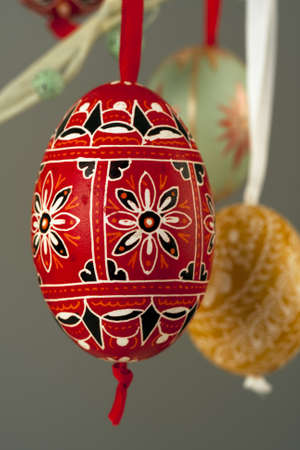 decorative eggs done by hand, hanging version 2
