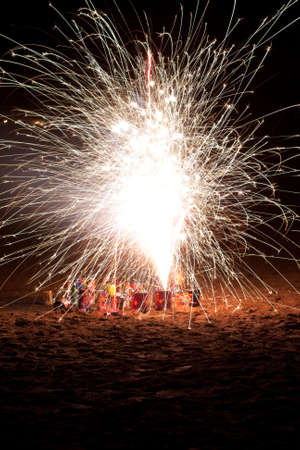 Fireworks on the beach finale Stock Photo - 6361394