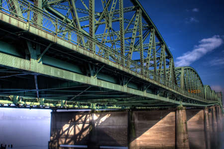 portland: Interstate Bridge crossing the Columbia River