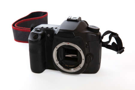 Digital camera body isolated on a white background